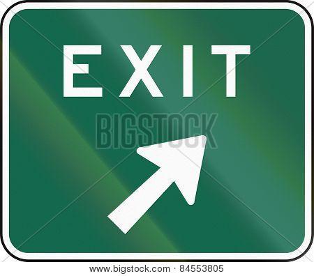 Mutcd Exit Sign