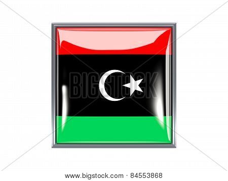 Square Icon With Flag Of Libya
