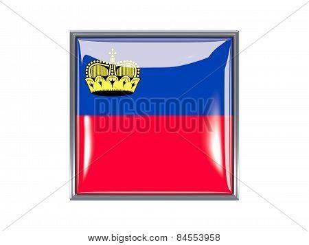 Square Icon With Flag Of Liechtenstein