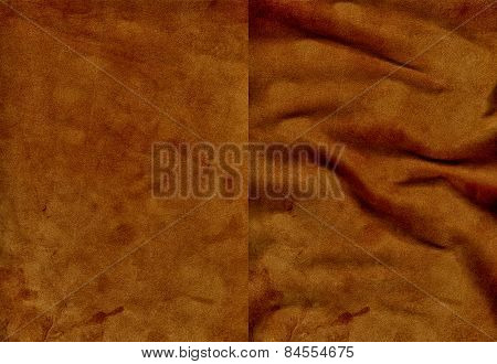 Set Of Brown Velvet Leather Textures