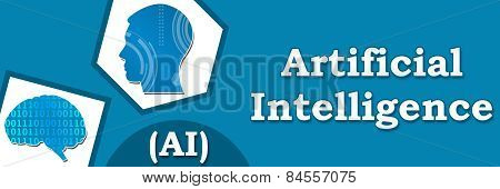 Artificial Intelligence Blue Abstract Banner