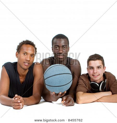 Young Sporty Interracial Teenage Group
