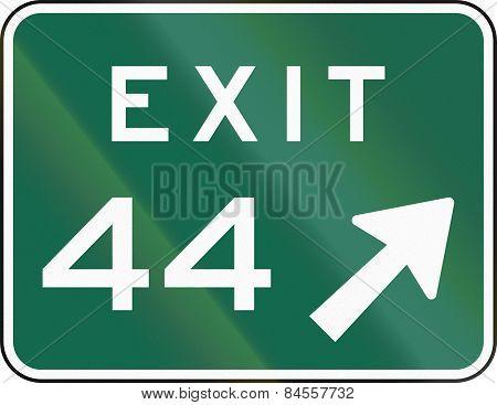 Mutcd Exit Sign 44