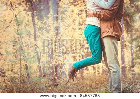 Couple Man and Woman hugging in Love Romantic Outdoor Lifestyle