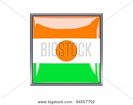 Square Icon With Flag Of Niger