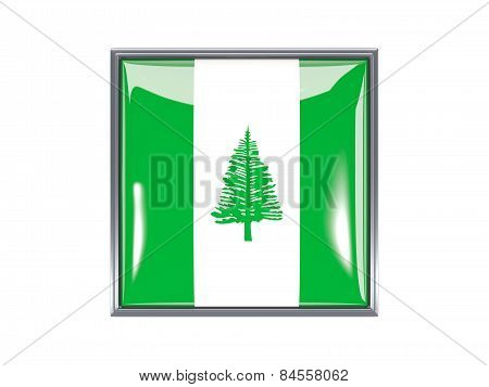 Square Icon With Flag Of Norfolk Island