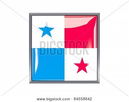 Square Icon With Flag Of Panama