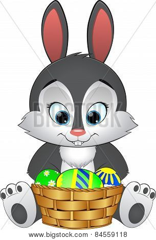 Illustration Easter Bunny With Basket