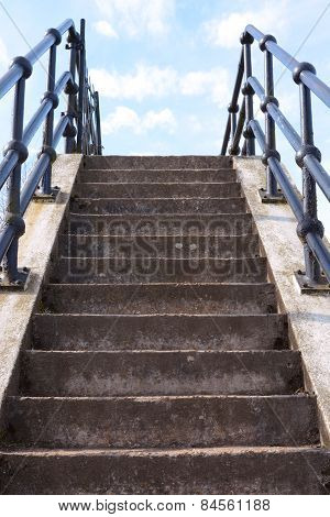 Concrete Stairs Leading Upwards