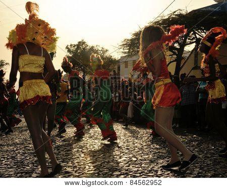 Carnival Participants Dancing