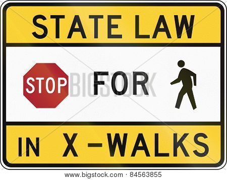 Stop For Pedestrians - Maryland