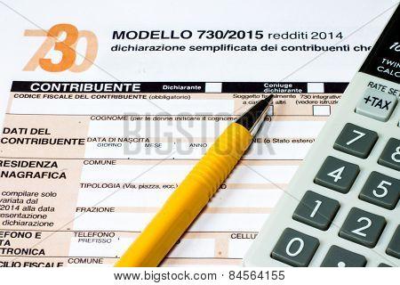 Italian Tax Return Called 730