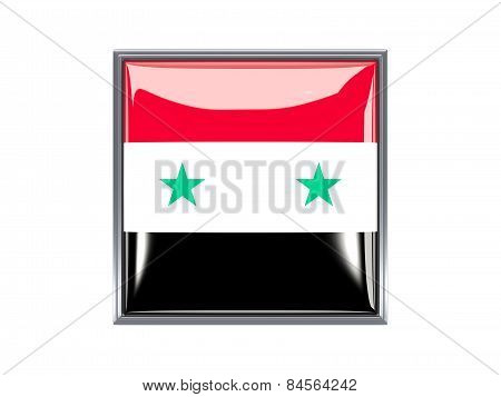 Square Icon With Flag Of Syria
