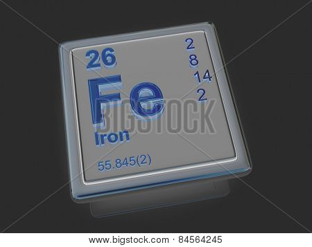 Iron. Chemical element. 3d