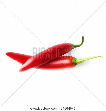 Two hot red pepper