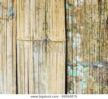 Old Bamboo Weave Wall