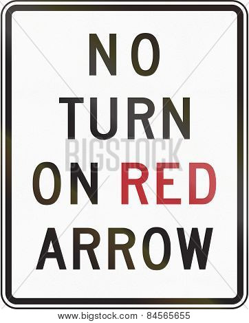 No Turn On Red Arrow