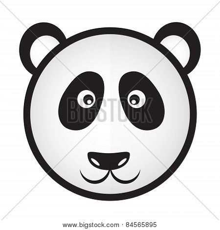 Black And White Panda Bear Head Eps10