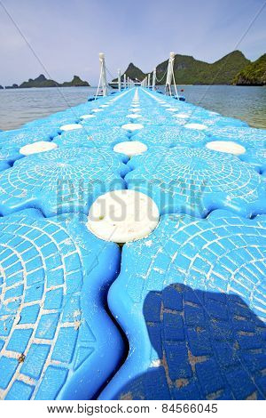 Plastic Pier  Coastline Of A   Sea Thailand Kho Phangan