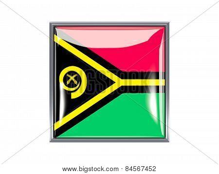 Square Icon With Flag Of Vanuatu