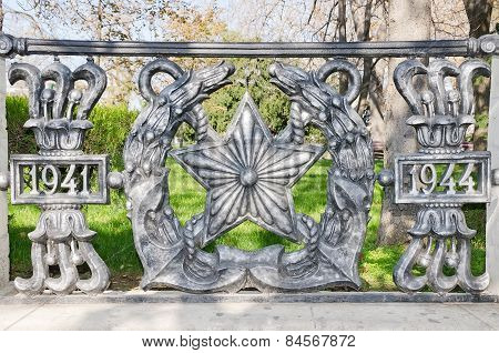 Wrought-iron Fence In Honor Of The Victory In Honor Of The Liberation Of Sevastopol