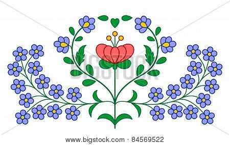 Hungarian Embroidery Floral Decoration