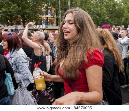 Attractive Woman, During Gay Pride Parade