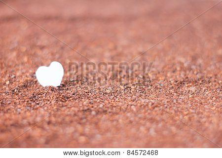 Heart Paper On Cocoa Powder