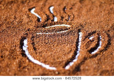 Cup Shape On Cocoa Powder