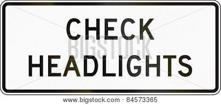 Check Headlights