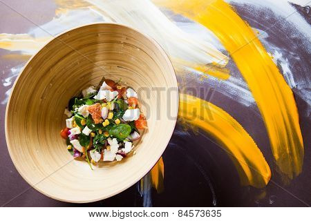 Vegetable Salad With Grapefruit And Mint
