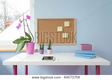 Cork Board Above Desk