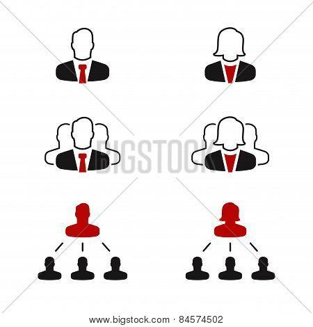 Gender simple vector icon set