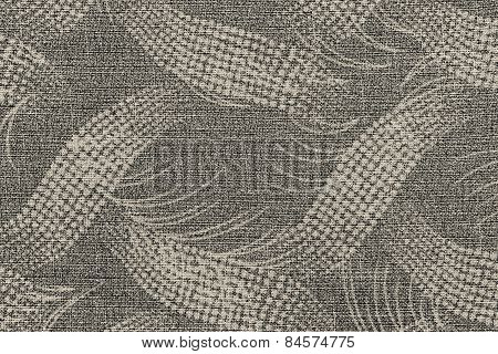 Fabric Of Beige Color With An Abstract Pattern