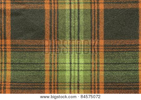 Woolen Fabric With An Checkered Pattern