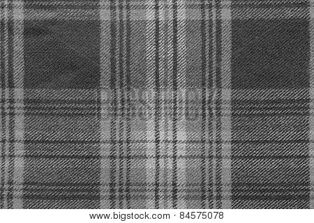 Monochrome Woolen Fabric With An Checkered Pattern