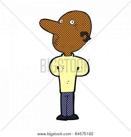 retro comic book style cartoon balding man