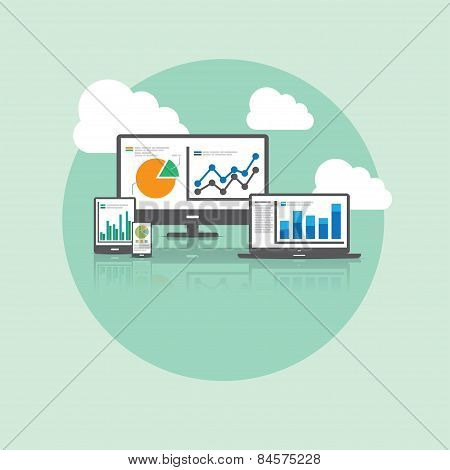 Big Data And Cloud Technology Concept
