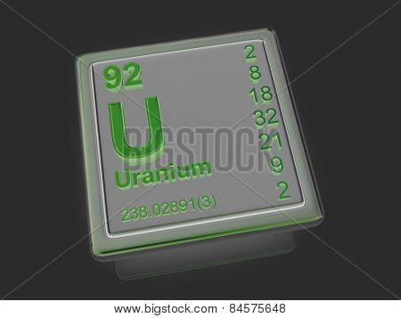 Uranium. Chemical element. 3d
