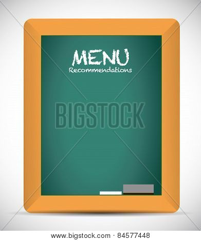 Menu Recommendations Board Sign