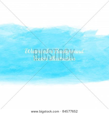 Watercolor blue background.