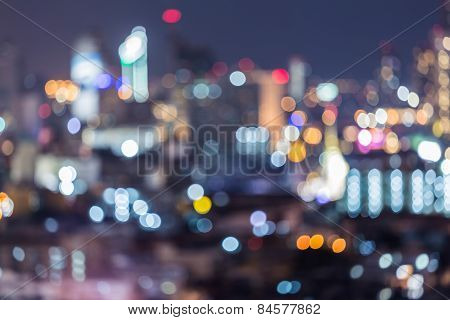 Abstract bokeh city lights background