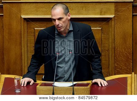 Finance Minister Yanis Varoufakis Of Greece