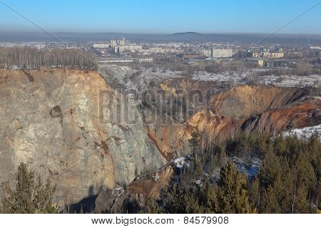 Quarry on the site of Mountain High. Nizhny Tagil. Sverdlovsk region. Russia.