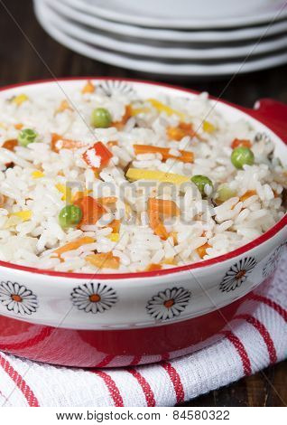 Rice With Vegetables And Spices.