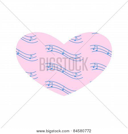 Heart With Notes