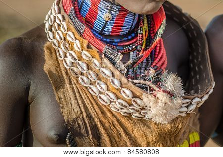 Traditional Ornament For Hamer Women, Omo Valley