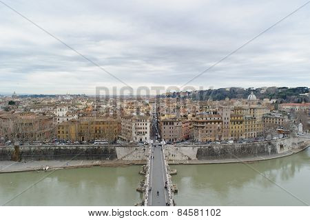 View From The Top Of Sant Angelo Castel