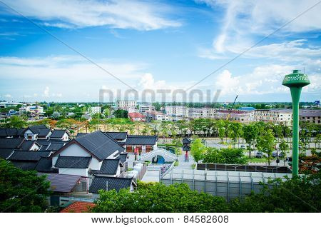 View Over Suphanburi City, Thailand