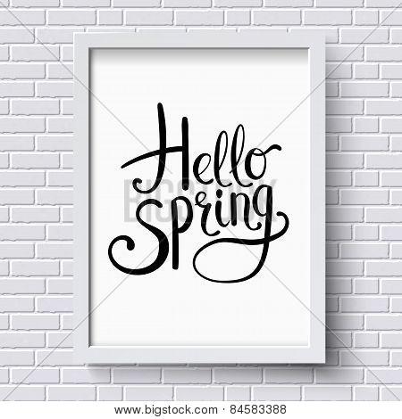 Hello Spring greeting card design